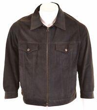 ARMANI JEANS Mens Leather Jacket IT 56 3XL Khaki  HH12