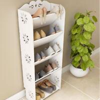 4/5/6 Tier Storage Organizer Standing Shoe Rack Shelf Cabinet Space Saving Home