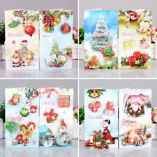 3D Greeting Card Merry Christmas Handmade Message Blessing Card Holiday Gift