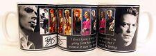 David Bowie Mug Tribute David Bowie Words Ceramic Mug Hand Decorated in UK