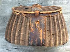 Antique Fishing Creel Lots Of Character Fine Weave High Quality