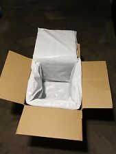 """Recycled cotton box liners 4 Insulated packing bags, panels, sheets 11""""x36""""x3/4"""""""