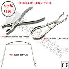 Professional Endodontic Rubber Dam Instruments Ainsworth Ivory Restorative Kit