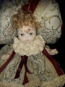 Italian Porcelain Miniature Doll approx 5in tall