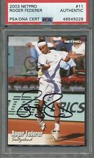 2003 Netpro #11 Roger Federer Signed RC PSA/DNA Certified Authentic Auto