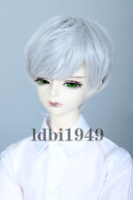 "1/3 8-9""LUTS Pullip SD DD Dollfie BJD Doll Wig ShortHandsome Grey Hair"