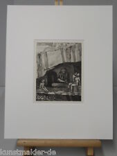 Max KLINGER Original Radierung # 368 : DIE HÖHLE
