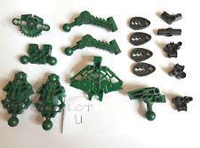 LOT U  Bionicle /Hero Factory  DARK GREEN  Main/Mixed parts  exc condition