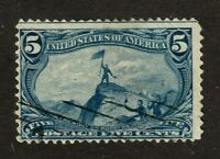 United States stamp #288, used, 1898, light cancel, SCV $25