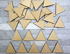 S07 WOODEN MDF TRIANGLE craft embellishment decoration scrapbook decoupage