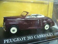 PEUGEOT 203 Cabriolet  Ccabrio rot red 1953 IXO Altaya 1:43