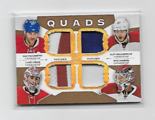 PRICE PACIORETTY GALCHENYUK CONDON 15-16 UD THE CUP QUAD 3-COLOR PATCH 2/5 HABS