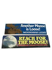VTG Lot of 2 Moosehead Moose Head Light Beer Unused Bumper Stickers 1980s Canada