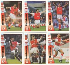 1997-98 Futera Fans Collection Arsenal F. C Trading Card Collection (90)+Album