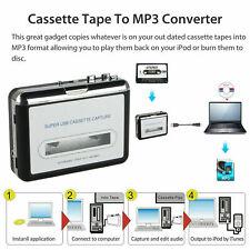 USB Cassette Tape to PC MP3 CD Digital File Converter Capture Music Player AB