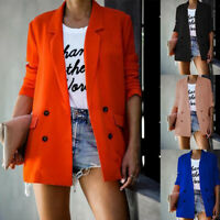 Women Ladies Long Sleeve Cardigan Suit Jacket Casual Loose Blazer Work Coat Suit
