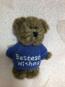 Boyds Bear Mini Message Bear ~ Bestest Wishes