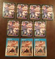 JOHN KRUK Lot (10 cards) RC Rookies 1987 Fleer #420 & 1987 Donruss #328 NRMT