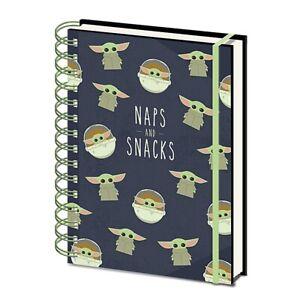 Genuine Star Wars The Mandalorian Naps And Snacks A5 Wiro Hardback Notebook Pad