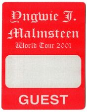 YNGWIE MALMSTEEN 2001 War Concert Tour Backstage Pass!!! Authentic Original OTTO