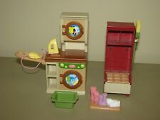 Fisher Price Loving Family Dollhouse Laundry Mud Room broom basket boot tray