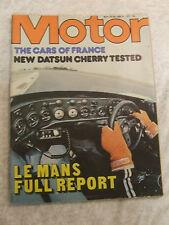 MOTOR JUNE 1979 DATSUN CHERRY TEST LE MANS FULL REPORT RENAULT 18 TS