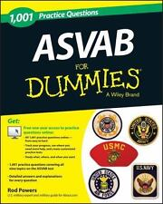 """""""LIKE NEW COND"""" ASVAB FOR DUMMIES 1,001 PRACTICE QUESTIONS (2013)"""
