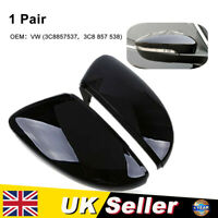 1Pair Rear View Door Wing Mirror Cover Fit For VW Beetle CC Eos Passat Jetta Mk6