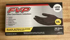 New listing Fvp Black Nitrile Gloves Box of 100 Xxl