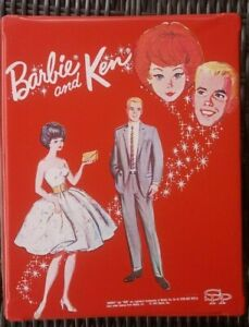 Vintage BARBIE & KEN DOLL TRUNK Wardrobe Carrying Case RED 1964