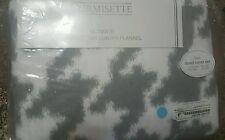 DORMISETTE GERMAN LUXURY Cotton FLANNEL twin 3PC DUVET COVER SET SILVER NEW