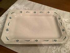 New ListingLongaberger Pottery Ivory Green Serving Platter Plate Tray Usa