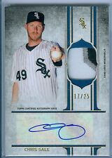 CHRIS SALE 2015 TOPPS SUPREME GAME USED JERSEY / PATCH AUTO AUTOGRAPH SP/25