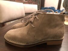 Hush Puppies Cyra Catelyn Women's Boots suede taupe  color Size 6 M