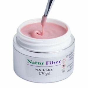 55ml Maquillaje UV LED Gel Fibra Uñas 1 Phasen Gel Fiber Natural,Color de la
