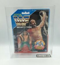 Vintage WWF Hasbro Jake La Serpiente Roberts Serie 1, 1990 cardada figura-UKG