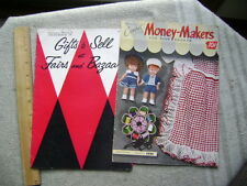 Two 1950's Crochet catalogs - Money Makers for Bazaars and Fairs