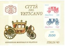 VATICANO 1985 Foglietto Esposizione Italia 85 MNH**