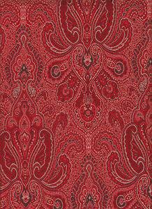 Brokatstoff Stoff mit Paisley Paisleystoff Brokat rot Mittelalterstoff Ranken