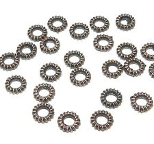 MB341f Antiqued Copper Plated 5mm Ribbed Ring Rondelle Metal Spacer Beads 24pc