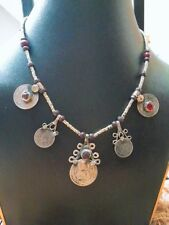 Simple Gypsy, Kuchi Nomad, Afghan Jewelry, Coin Bells, Vintage Necklace,