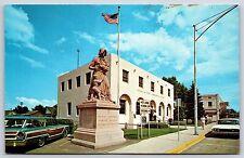Madonna of the Trail Statue & Post Office Springerville, Arizona Postcard Unused