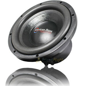 """American Bass 10"""" Subwoofer 600 Watts Max Power 4 Ohm Car Audio SVC DX10 Single"""