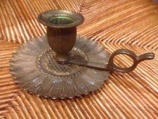 ANCIEN BOUGEOIR  RAT DE CAVE relais Pèlerinage St Jacques de Compostelle.?laiton