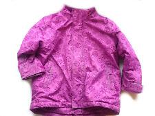 warme Winterjacke Gr.110-116 Second Hand gebraucht Jacke gefüttert pink violett
