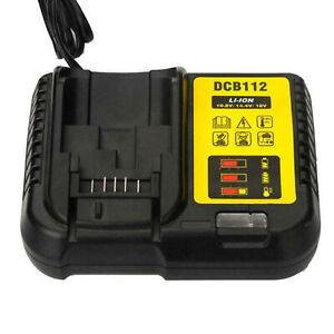 Puissance du chargeur batterie Li-ion pour De-walt DCB112 DCB105 DCB115 DCB200