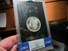 HARD TO FIND NON CC GSA  1881-S MORGAN IN A GSA HOLDER  NGC  MS-63  WHITE & PL