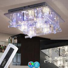 Chrom Metallkopf Acryl Deko Deckenlicht//-leuchte Halogen Schienenlampe 4-Flg