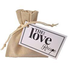 Il piccolo ricetta d'amore-Sacchetto Regalo Divertente unico Token Regalo I Love You San Valentino