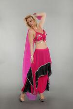 Lady BELLY DANCER Costume w/ Veil Sexy Harem Girl Genie Adult Small Medium 4 6 8